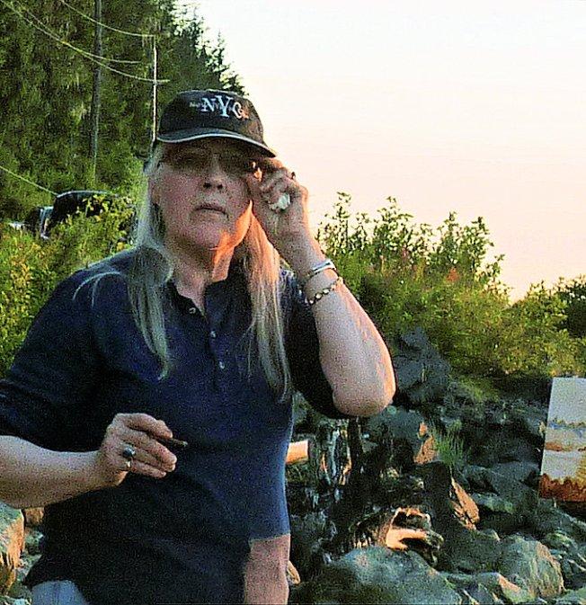 Alaska artist Devita (Stipek) Writer, 2019, Juneau, Alaska